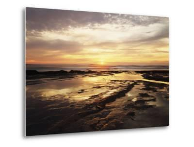 California, San Diego, Sunset Cliffs, Sunset Reflecting in Tide Pools