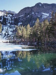 California, Sierra Nevada, Inyo Nf, Mammoth Lakes, Frozen Emerald Lake by Christopher Talbot Frank