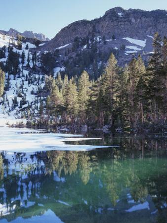 California, Sierra Nevada, Inyo Nf, Mammoth Lakes, Frozen Emerald Lake by Christopher Talbot Frank
