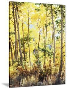 California, Sierra Nevada, Inyo Nf, Suns Rays Through Autumn Aspens by Christopher Talbot Frank