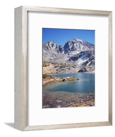 California, Sierra Nevada Mts, Mountains and a Glacial Lake in the Nf