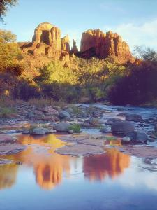 Cathedral Rock Reflecting on Oak Creek, Sedona, Arizona, USA by Christopher Talbot Frank