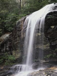 Great Smoky Mountains, a Waterfall Flows from the Forest by Christopher Talbot Frank