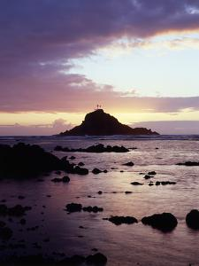 Hawaii, Maui, Three Palm Tree Island at Sunrise in Hana by Christopher Talbot Frank