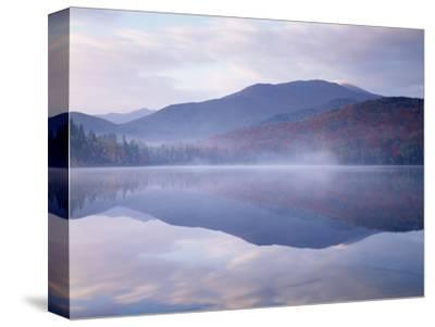 New York, Adirondack Mts, Algonquin Peak and Fall by Heart Lake
