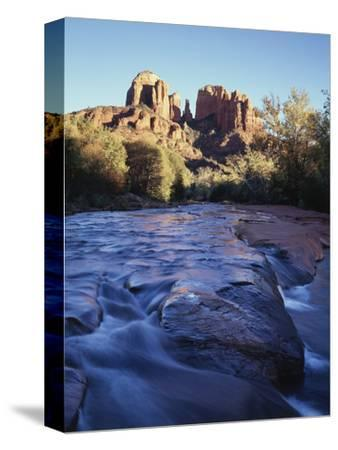 Sedona, Cathedral Rock Reflecting in Oak Creek at Red Rock Crossing
