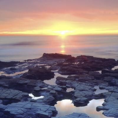 Sunset Cliffs Tidepools on the Pacific Ocean Reflecting the Sunset, San Diego, California, USA by Christopher Talbot Frank