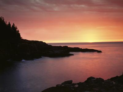 USA, Maine. Acadia National Park. Sunrise over the Atlantic. by Christopher Talbot Frank