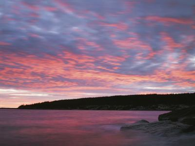 USA, Maine, Acadia National Park, Sunset over the Atlantic Ocean by Christopher Talbot Frank