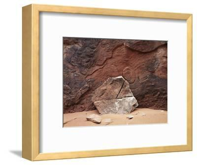 Utah, Arches National Park. an Abstract Sandstone Formation