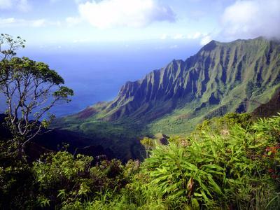 View Above the Na Pali Coast, Kauai, Hawaii, USA