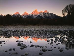 Wyoming, Rocky Mts, the Grand Tetons Reflecting in the Snake River by Christopher Talbot Frank
