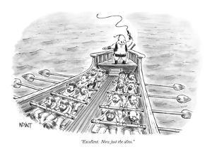 """""""Excellent.  Now just the altos."""" - New Yorker Cartoon by Christopher Weyant"""