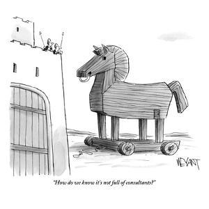 """How do we know it's not full of consultants?"" - New Yorker Cartoon by Christopher Weyant"