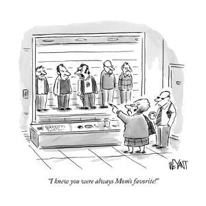 """I knew you were always Mom's favorite!"" - New Yorker Cartoon by Christopher Weyant"