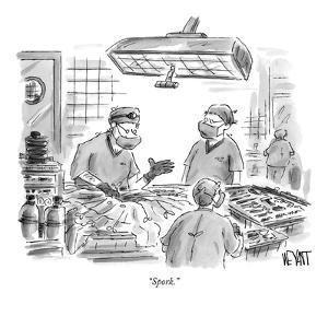 """Spork."" - New Yorker Cartoon by Christopher Weyant"