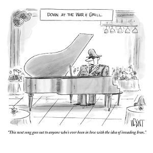 """""""This next song goes out to anyone who's ever been in love with the idea o?"""" - New Yorker Cartoon by Christopher Weyant"""