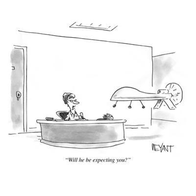 """""""Will he be expecting you?"""" - Cartoon"""