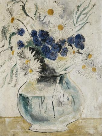 Daisies and Cornflowers in a Glass Bowl, 1927 by Christopher Wood