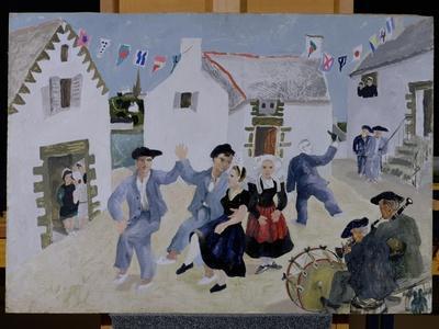 Dancing Sailors, Brittany, 1930