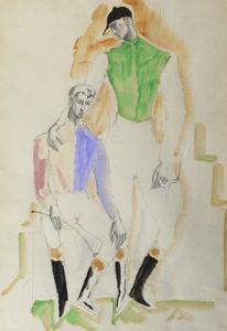 Two Jockeys by Christopher Wood