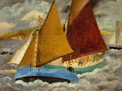Yacht Race at Portscato, Cornwall, 1928
