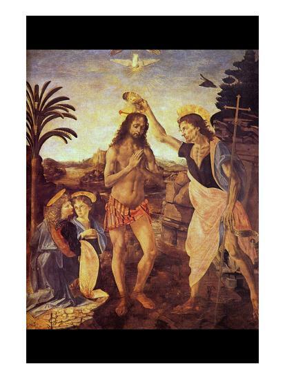 Christs Baptism I-Leonardo da Vinci-Art Print