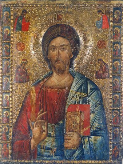 Christus Pantokrator-Moldau-Schule Ikone-Giclee Print