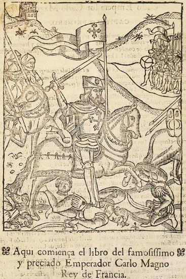 Chronicle of Charlemagne's Most Famous Companies, Incunabulum from Alcala De Henares, Spain, 1585--Giclee Print