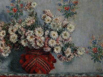 Chrysanthemums, 1878-Claude Monet-Giclee Print