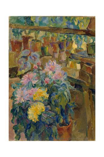 Chrysanthemums, 1911-Vasili Vasilyevich Rozhdestvensky-Giclee Print