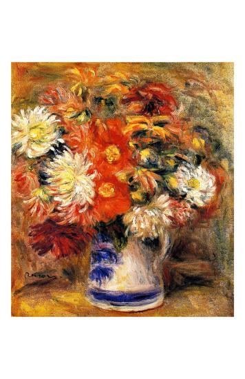 Chrysanthemums in Vase-Pierre-Auguste Renoir-Giclee Print