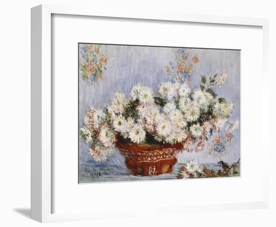 Chrysanthemums-Claude Monet-Framed Giclee Print