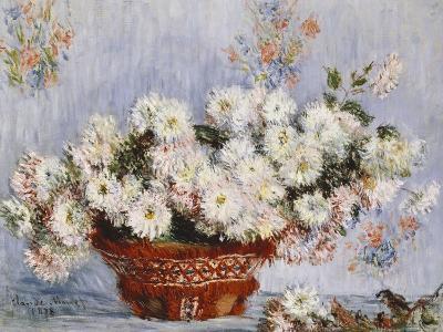 Chrysanthemums-Claude Monet-Giclee Print
