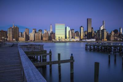 Chrysler and Un Buildings and Midtown Manhattan Skyline from Queens, New York City, New York, USA-Jon Arnold-Photographic Print