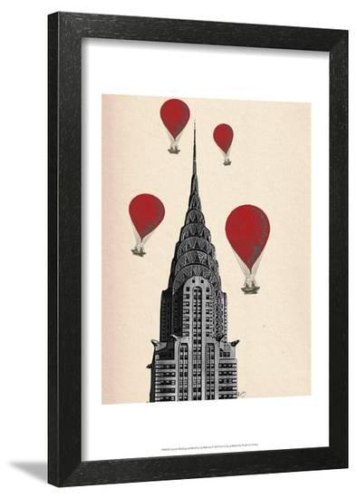 Chrysler Building and Red Hot Air Balloons-Fab Funky-Framed Art Print