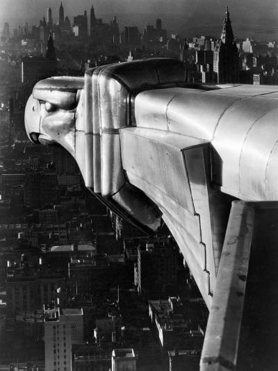 Chrysler Building Gargoyle-Margaret Bourke-White-Photographic Print