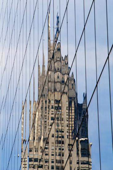 Chrysler Building's Reflection,; Murray Hill, Manhattan, New York, USA-Design Pics Inc-Photographic Print