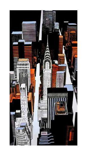 Chrysler Building Sky View-Joan Farré-Giclee Print