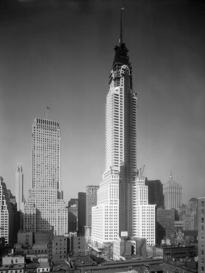 Chrysler Building under Construction--Photographic Print
