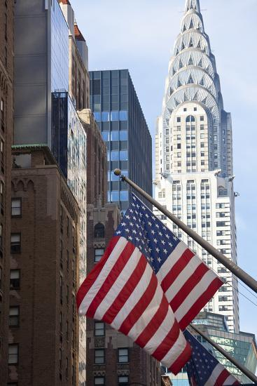 Chrysler Building with Star and Stripes, New York, USA-Peter Adams-Photographic Print