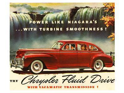 Chrysler Fluid Drive - Niagara--Art Print