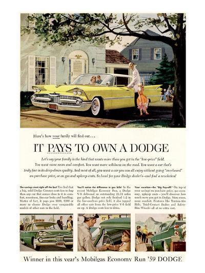 Chrysler It Pays to Own Dodge--Art Print