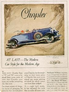 Chrysler, Magazine Advertisement, USA, 1928