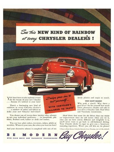 Chrysler Rainbow Ad--Art Print