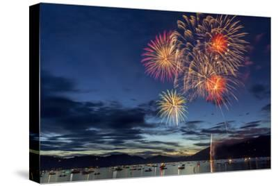 4th of July Fireworks over Whitefish Lake in Whitefish, Montana
