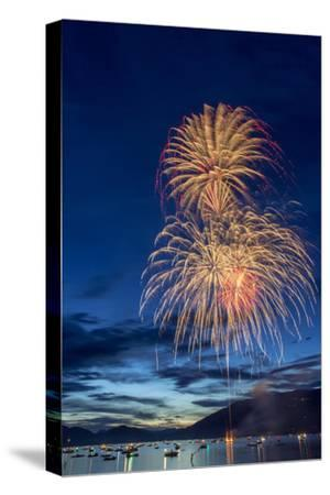 5th of July Fireworks over Whitefish Lake in Whitefish, Montana