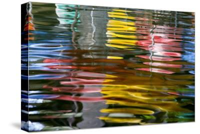 Abstract Reflection on the Riverwalk, San Antonio, Texas, Usa