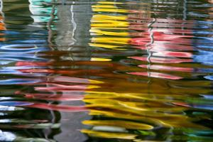 Abstract Reflection on the Riverwalk, San Antonio, Texas, Usa by Chuck Haney