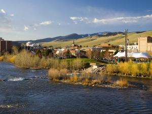 Across the Clark Fork River, Missoula, Montana by Chuck Haney